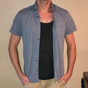 Blue Casual Button Down GAP Shirt